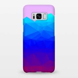Galaxy S8+  blue shaded triangle pattern by MALLIKA