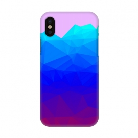 iPhone X  blue shaded triangle pattern by MALLIKA