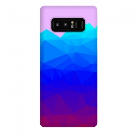 Galaxy Note 8  blue shaded triangle pattern by