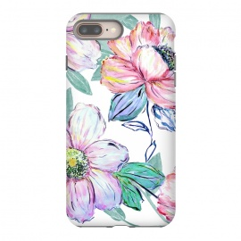 Romantic watercolor flowers hand paint design by InovArts
