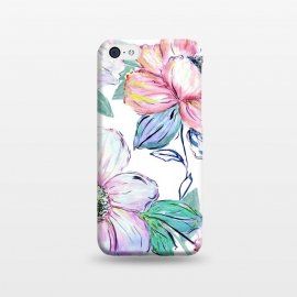 iPhone 5C  Romantic watercolor flowers hand paint design by InovArts
