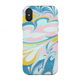 iPhone Xs / X  Melted Bubblegum Ice Cream by Micklyn Le Feuvre (abstract,melted,ice cream,pastel,pastels,blush pink,mustard,aqua,turquoise,micklyn,textures,marbling,paint,painting,flow,liquid,acrylics,colorful,pretty,cute,trendy)