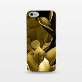 iPhone 5/5E/5s  Gold floral by Kashmira Baheti