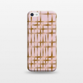 iPhone 5C  Rose gold checks by Kashmira Baheti