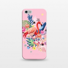 iPhone 5/5E/5s  Flamingo Love by MUKTA LATA BARUA (flamingo,flowers, floral, tropical, vibes,summer,pretty, beautiful)