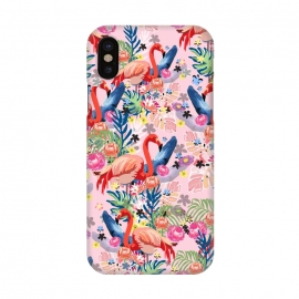 iPhone X  Flamingo Land Pink by