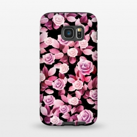 Galaxy S7  Pink roses by Jms