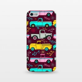 iPhone 5/5E/5s  Floral Vintage Trucks  by Tigatiga