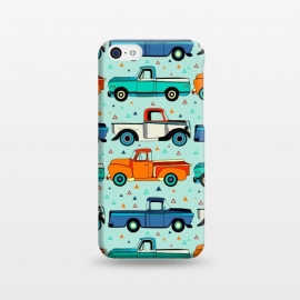 iPhone 5C  Bright Vintage Trucks  by Tigatiga