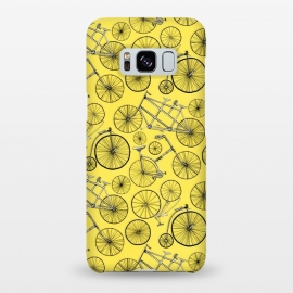Galaxy S8+  Vintage Bicycles on Yellow  by Tigatiga