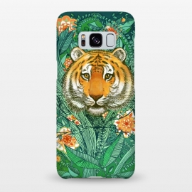 Galaxy S8+  Tiger Tangle in Color by Micklyn Le Feuvre