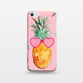 iPhone 5C  Cool Pinapple with Glasses by ''CVogiatzi.