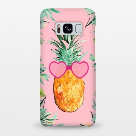 Galaxy S8+  Cool Pinapple with Glasses by ''CVogiatzi.