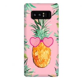 Galaxy Note 8  Cool Pinapple with Glasses by ''CVogiatzi.