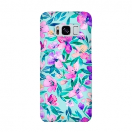 Galaxy S8  Happy Spring Floral in Watercolor by Micklyn Le Feuvre