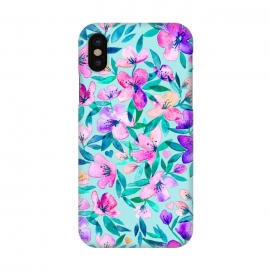 iPhone X  Happy Spring Floral in Watercolor by Micklyn Le Feuvre