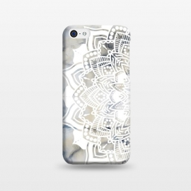 iPhone 5C  Cut out white lace mandala on marble by Oana