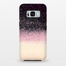 Galaxy S8+  Half black cream glitter star dust by Oana