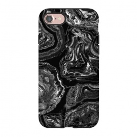 iPhone 8/7  Black liquid marble by Oana