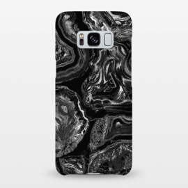 Galaxy S8+  Black liquid marble by Oana
