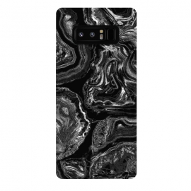 Galaxy Note 8  Black liquid marble by Oana