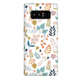 Galaxy Note 8  Botanical Harmony by  (graphic design, pattern, floral, nature, flowers, leaves, spring, botanical, blossom, bloom, forest, cute, intricate, detailed)