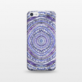 iPhone 5C  Purple Marbling Mandala  by Tigatiga