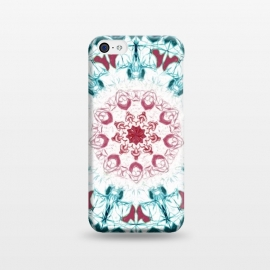 iPhone 5C  Blush & Teal Mandala  by Tigatiga