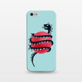 iPhone 5/5E/5s  Cool Evil Black Dragon Snake Monster by
