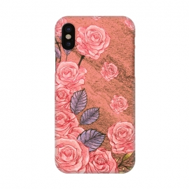 iPhone X  Vintage Peonies  by Rossy Villarreal