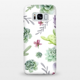 Galaxy S8+  Cactus Watercolor Pattern by Bledi