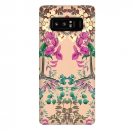 Galaxy Note 8  Vibrant Spring by Zala Farah (floral,pink flowers,collage,symmetry,flower,flower power,flower art,floral colllage,floral print,exotic,tropical,bloom,blossom,boho,zala farah,zala02creations)