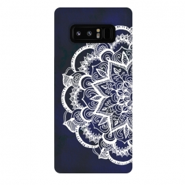 Galaxy Note 8  White Feather Mandala by Tangerine-Tane