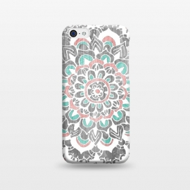 iPhone 5C  Pastel Mandala on Wood by Tangerine-Tane