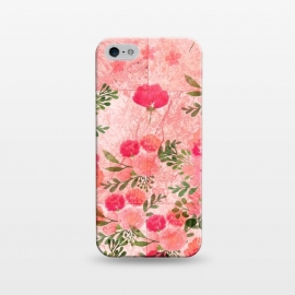 iPhone 5/5E/5s  Vintage Rose on Marble by