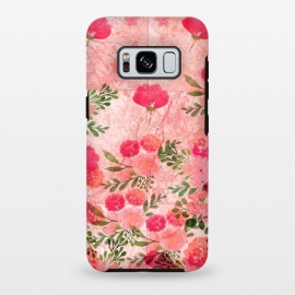 Galaxy S8+  Vintage Rose on Marble by Rossy Villarreal