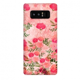 Galaxy Note 8  Vintage Rose on Marble by