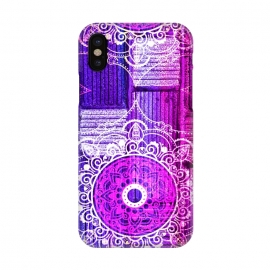 iPhone X  Purple Tapestry by Rossy Villarreal