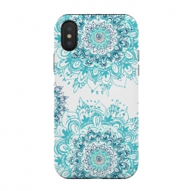 iPhone Xs / X  Natures Florals  by  (mandala,floral,teal,boho,flowers,pretty,hippie)