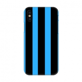 iPhone X  blue stripes by MALLIKA