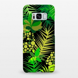 Galaxy S8+  green tropical pattern by MALLIKA