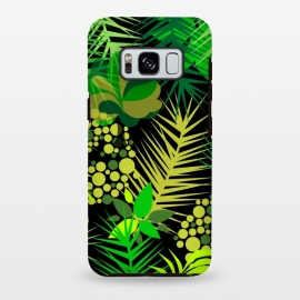 Galaxy S8 plus  green tropical pattern by