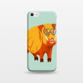 iPhone 5C  Cute Boar Pig With Glasses  by Boriana Giormova
