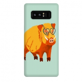 Galaxy Note 8  Cute Boar Pig With Glasses  by Boriana Giormova