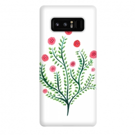 Galaxy Note 8  Spring Plant In Pink And Green by Boriana Giormova