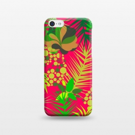 iPhone 5C  pink tropical pattern by MALLIKA