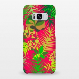 Galaxy S8+  pink tropical pattern by MALLIKA