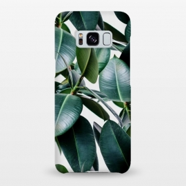 Galaxy S8+  Tropical Elastica by Uma Prabhakar Gokhale (collage, plant ,nature,botanical,digital manipulation,rubber,rubber plant ,tropical ,house plant,leaves,green, minimal,modern,scandinavian,bohemian)
