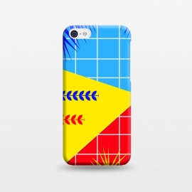 iPhone 5C  YELLOW TROPICAL PATTERN by MALLIKA