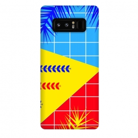 Galaxy Note 8  YELLOW TROPICAL PATTERN by